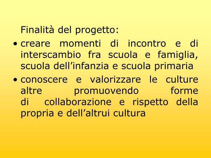 Finalit del progetto: