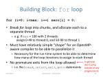 building block for loop