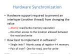 hardware synchronization