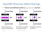 openmp directives work sharing