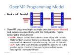 openmp programming model