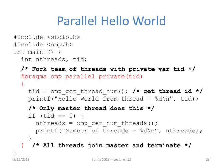 Parallel Hello World