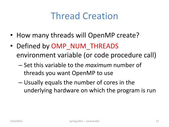 Thread Creation