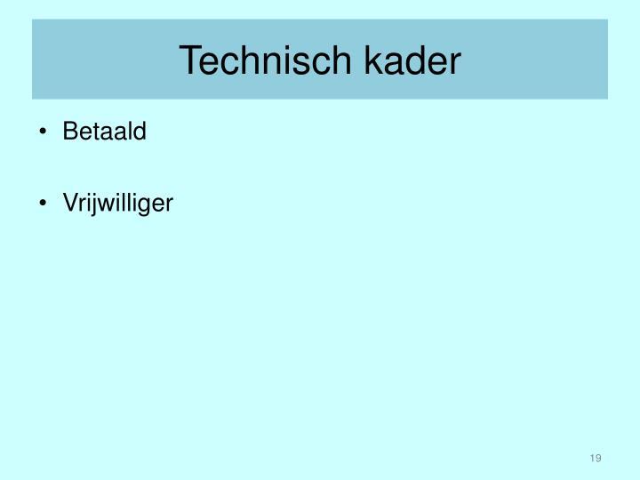 Technisch kader
