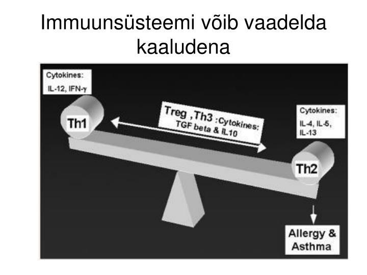 Immuunsüsteemi võib vaadelda kaaludena