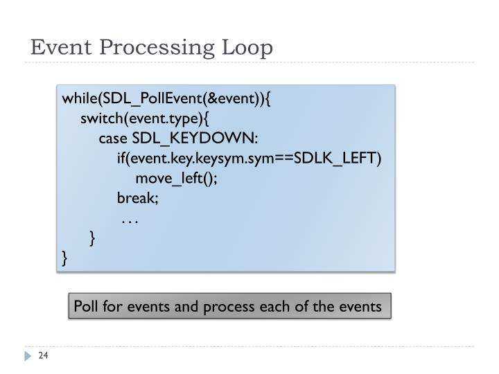 Event Processing Loop