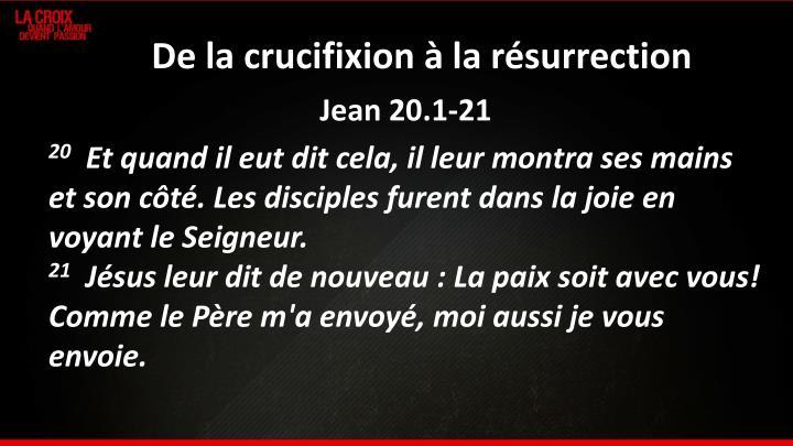 De la crucifixion à la résurrection