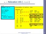 a o relocation info text