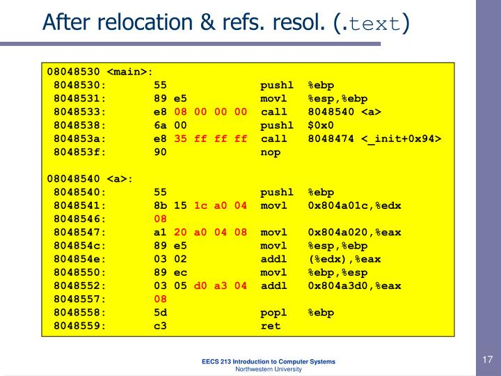 After relocation & refs. resol. (.