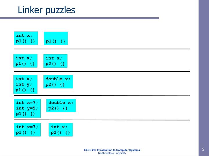 Linker puzzles