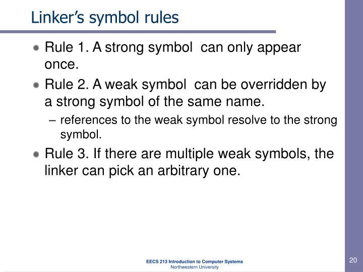 Linker's symbol rules
