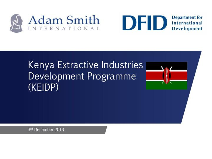 Kenya Extractive Industries Development Programme