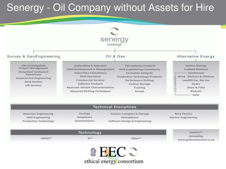 Senergy - Oil Company without Assets for Hire