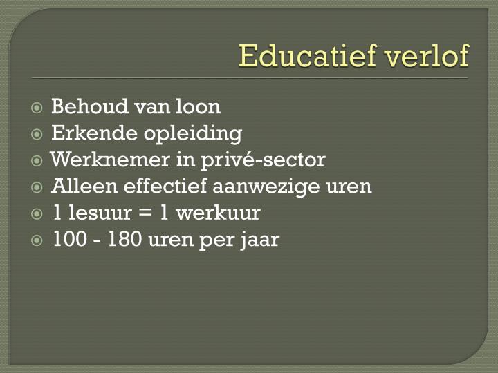 Educatief verlof