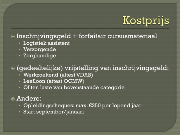 Kostprijs