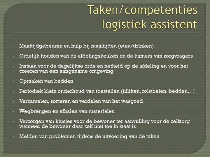 Taken/competenties