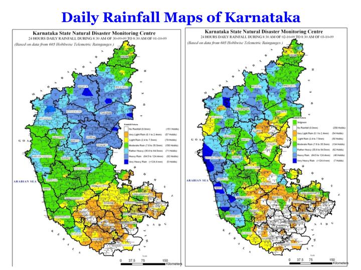 Daily Rainfall Maps of Karnataka