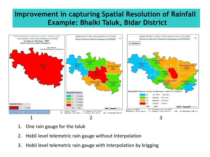 Improvement in capturing Spatial Resolution of Rainfall