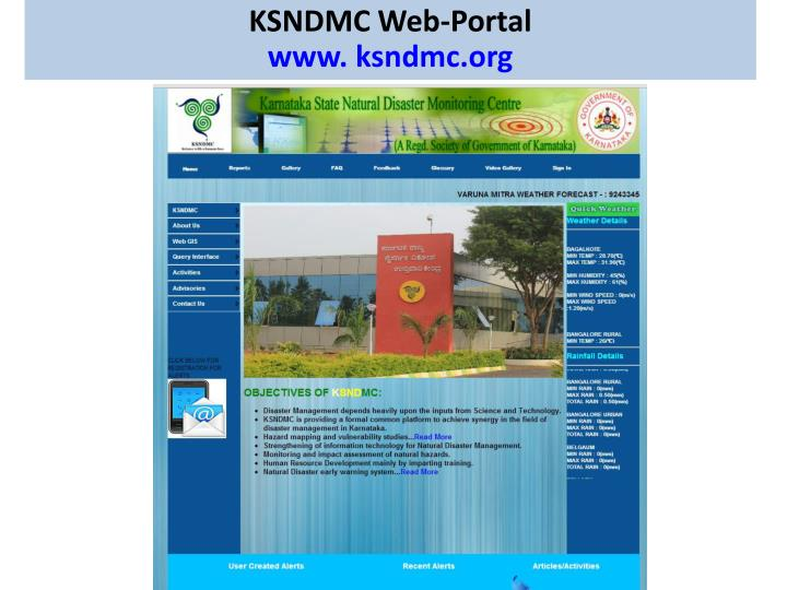 KSNDMC Web-Portal