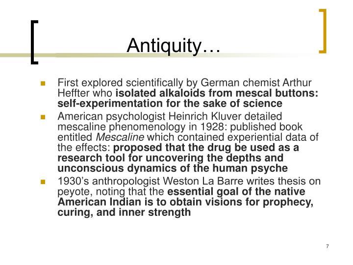 Antiquity…