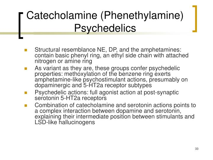 Catecholamine (Phenethylamine) Psychedelics