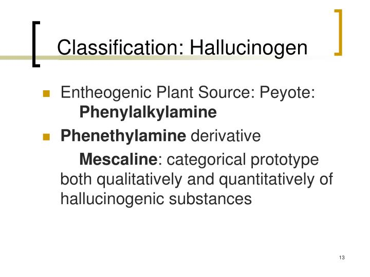 Classification: Hallucinogen