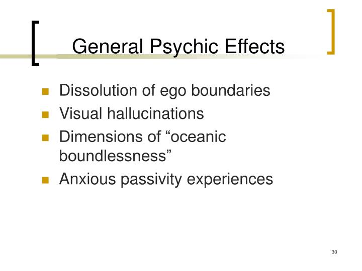 General Psychic Effects