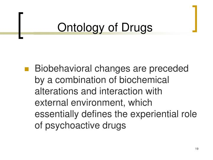 Ontology of Drugs
