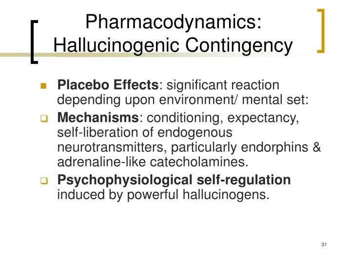 Pharmacodynamics: Hallucinogenic Contingency