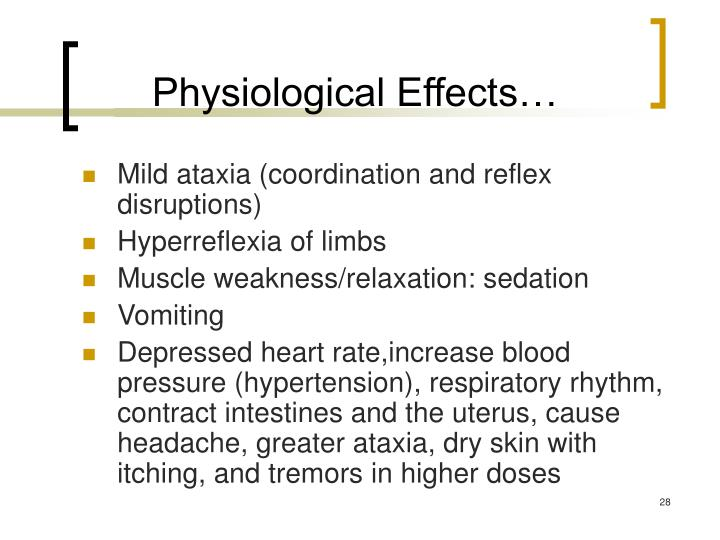 Physiological Effects…
