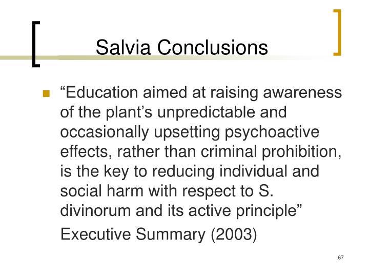 Salvia Conclusions