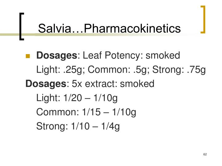 Salvia…Pharmacokinetics