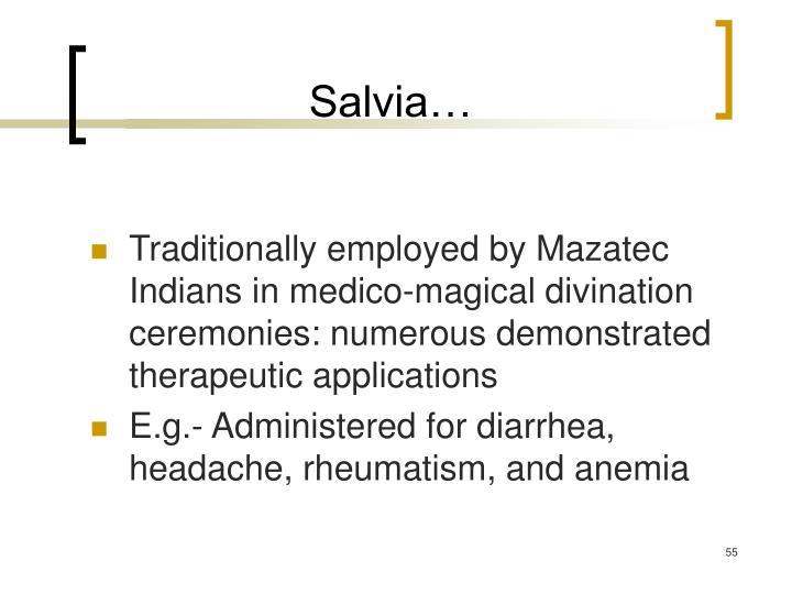 Salvia…