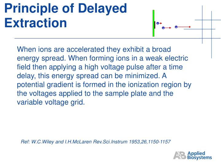 Principle of Delayed Extraction