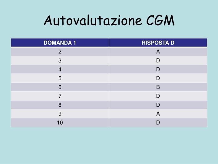 Autovalutazione CGM