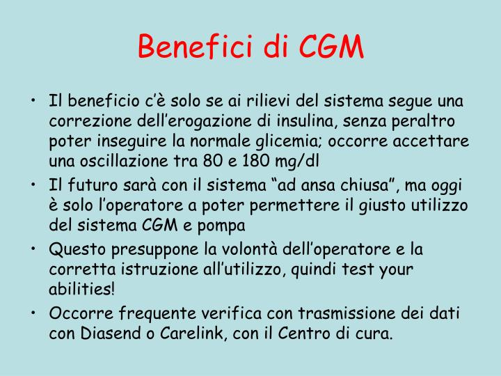 Benefici di CGM
