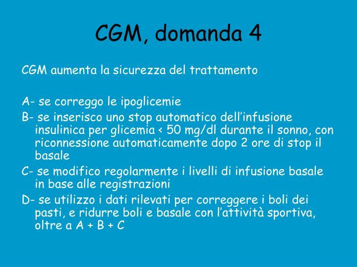 CGM, domanda 4
