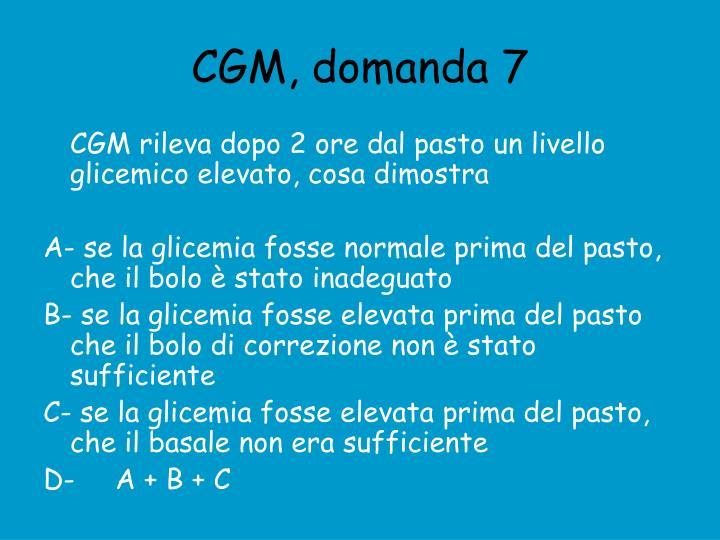 CGM, domanda 7