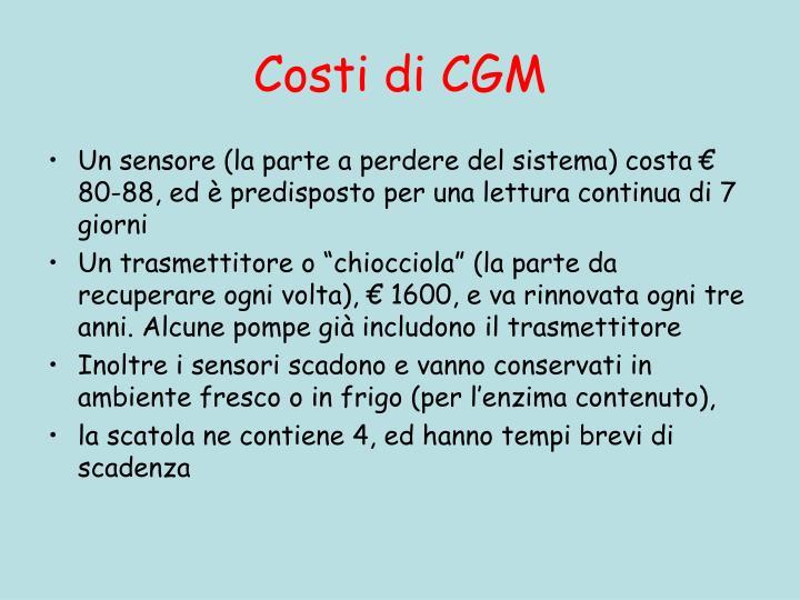Costi di CGM
