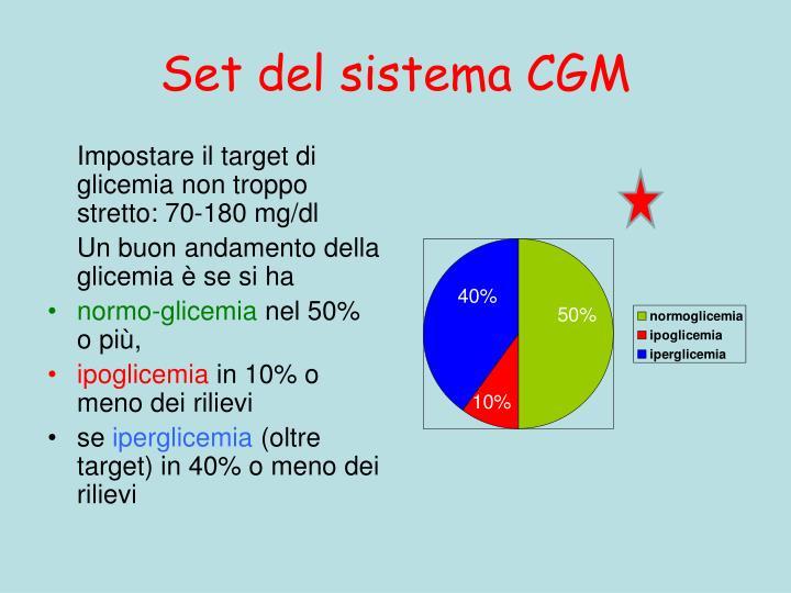 Set del sistema CGM