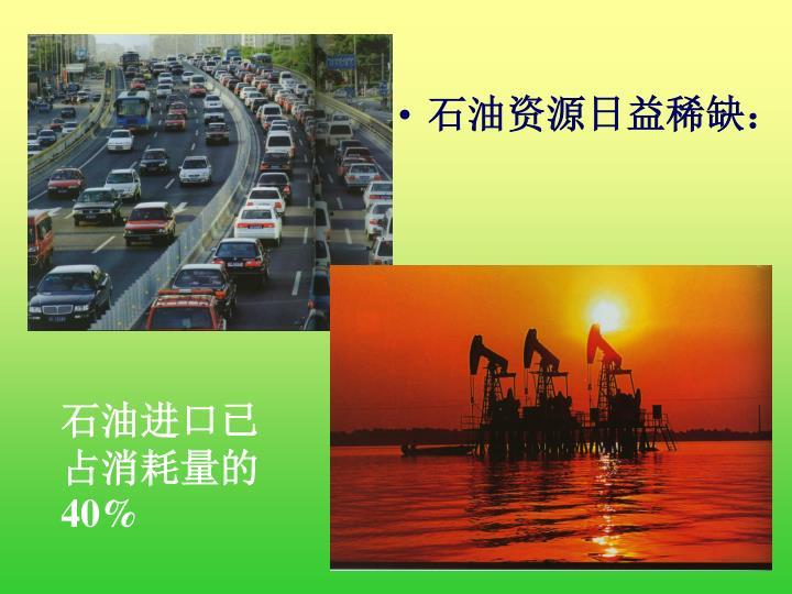 石油资源日益稀缺:
