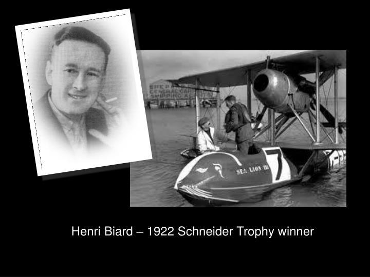 Henri Biard – 1922 Schneider Trophy winner