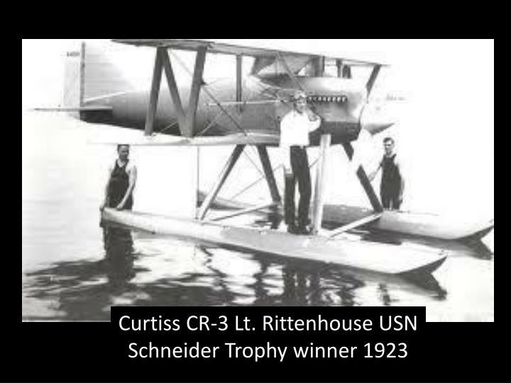 Curtiss CR-3 Lt. Rittenhouse USN