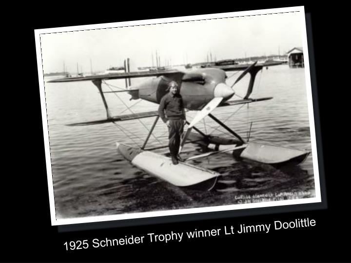 1925 Schneider Trophy winner Lt Jimmy Doolittle