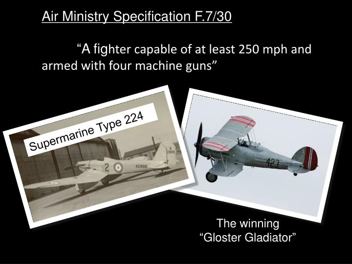 Air Ministry Specification F.7/30