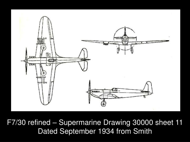 F7/30 refined – Supermarine Drawing 30000 sheet 11