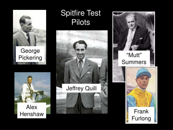 Spitfire Test Pilots