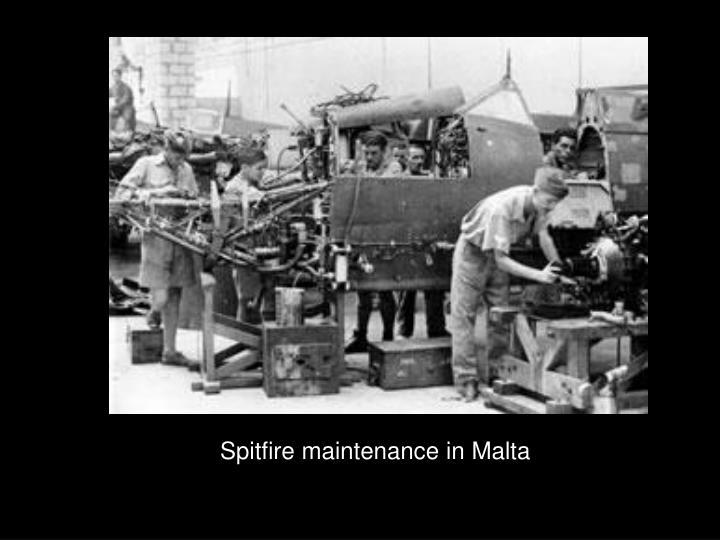 Spitfire maintenance in Malta