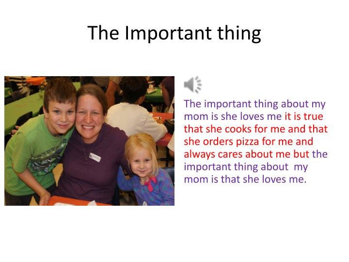 The Important thing