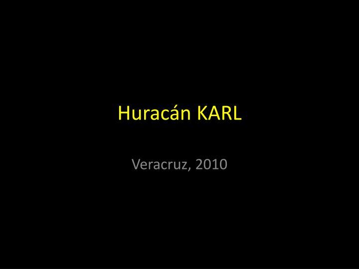 Huracán KARL